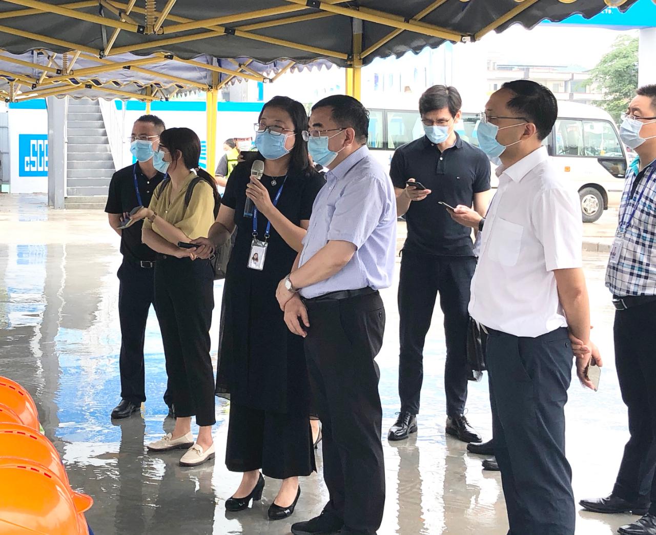 新华社广东分社社长徐金鹏调研广州国显项目